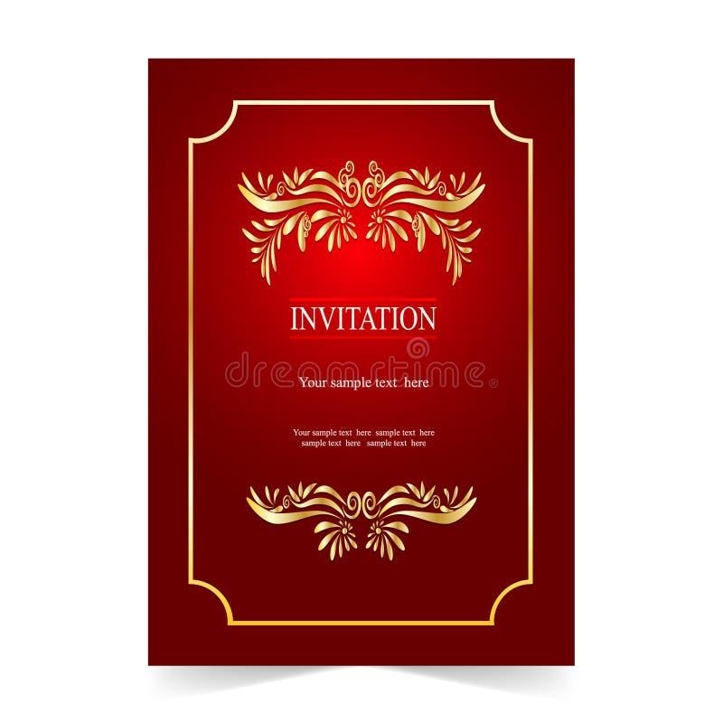 Download Карточка приглашения, карточка свадьбы с орнаментальной предпосылкой Иллюстрация вектора - иллюстрации насчитывающей церемония, пепельнообразные: 81813836