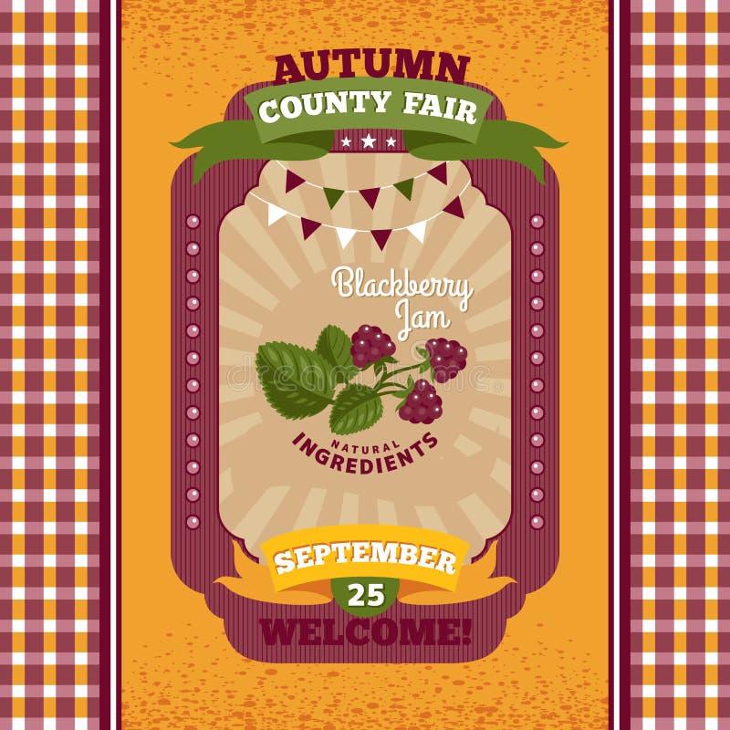 Карточка приглашения окружной ярмарки винтажная бесплатная иллюстрация