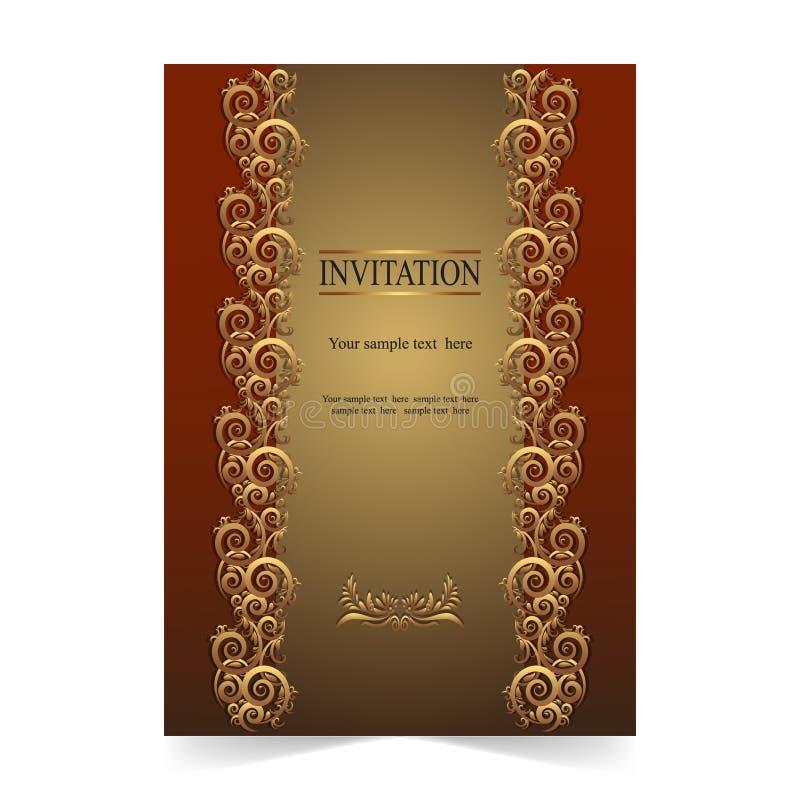 Download Карточка приглашения, поздравительная открытка, карточка свадьбы с Ornamental Иллюстрация вектора - иллюстрации насчитывающей картина, brickmason: 81813833