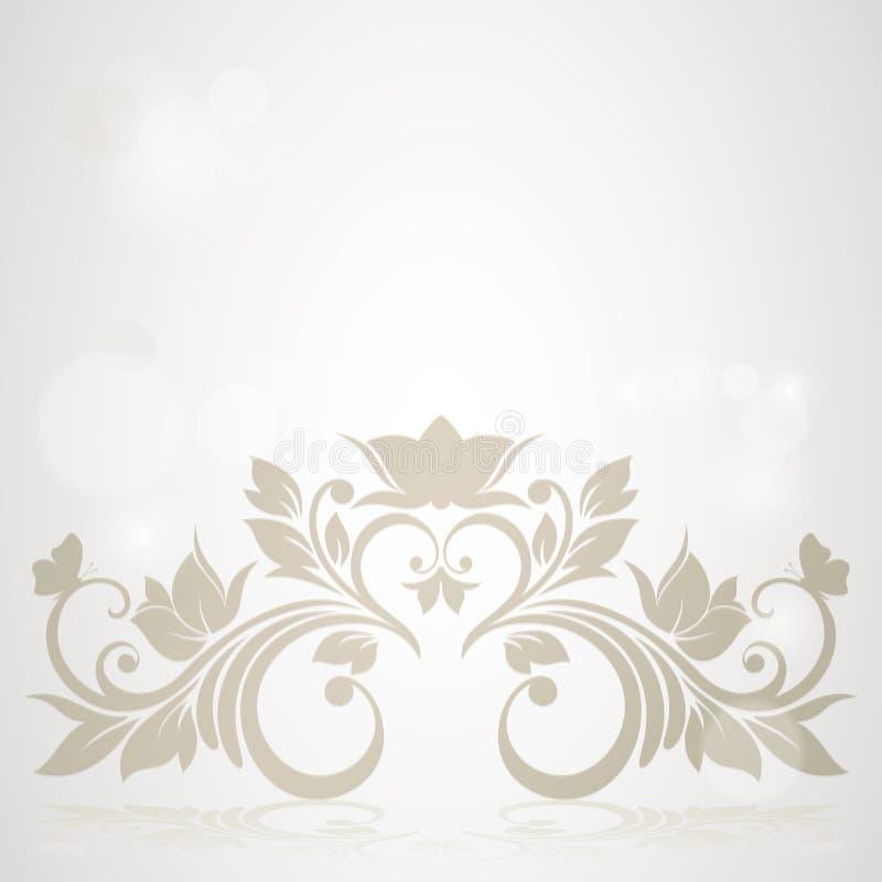 Карточка приглашения с абстрактной флористической предпосылкой. бесплатная иллюстрация