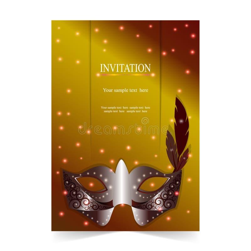 Download Карточка приглашения, с предпосылкой маски масленицы Иллюстрация вектора - иллюстрации насчитывающей замужество, приветствие: 81814084