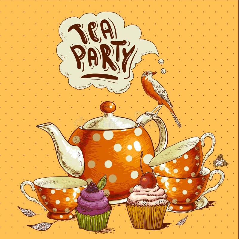 приглашение на чаепитие в день рождения картинки