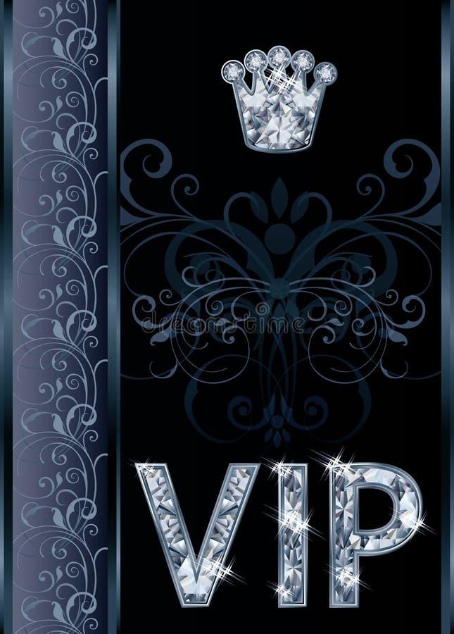 Карточка приглашения VIP диаманта бесплатная иллюстрация