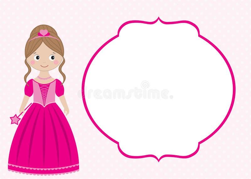 Карточка принцессы иллюстрация вектора