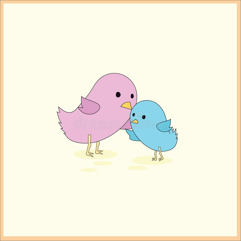 карточка птицы младенца иллюстрация вектора