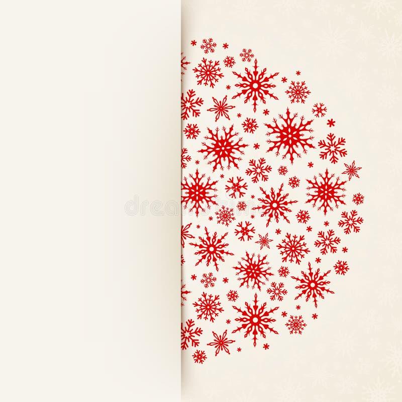 Карточка рождества белая с снежинками Вектор EPS-10 бесплатная иллюстрация