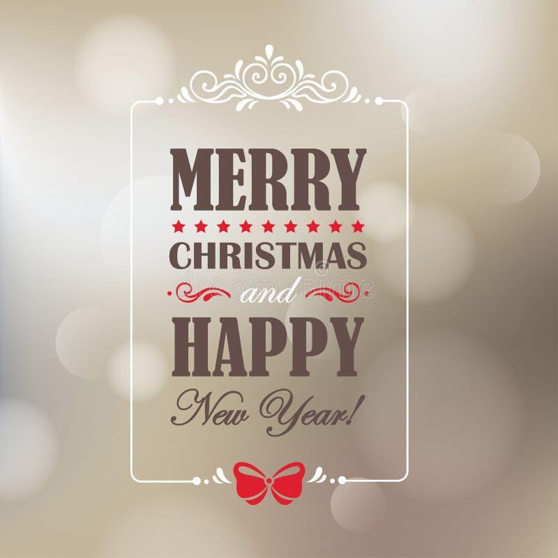 Карточка рождества и Нового Года иллюстрация штока