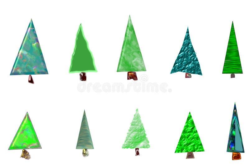 Карточка рождественских елок стоковое фото rf