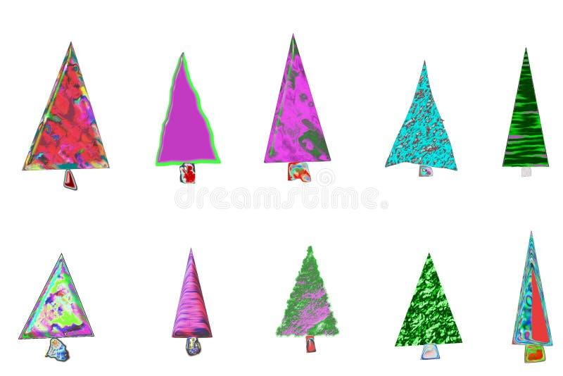 Карточка рождественских елок стоковые фото
