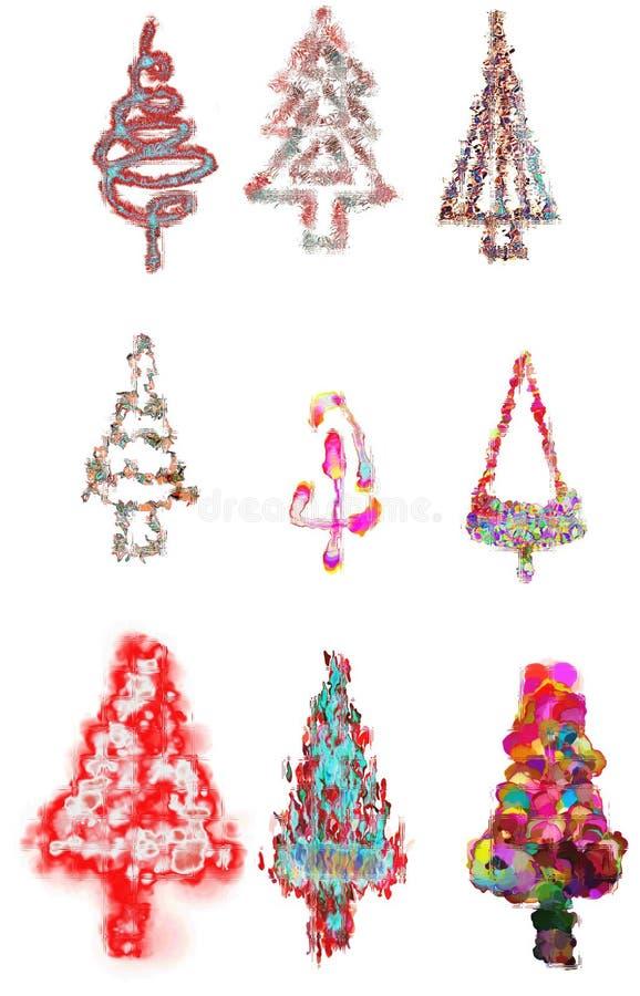 Карточка рождественских елок стоковые фотографии rf