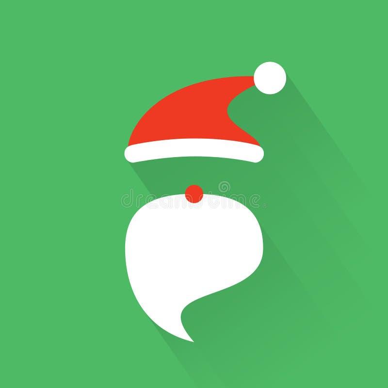 Карточка Санты рождества в векторе стоковая фотография rf