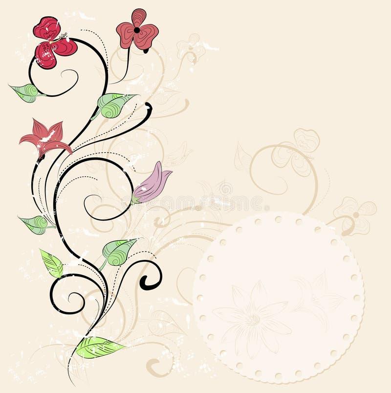 Карточка сбора винограда флористическая иллюстрация вектора