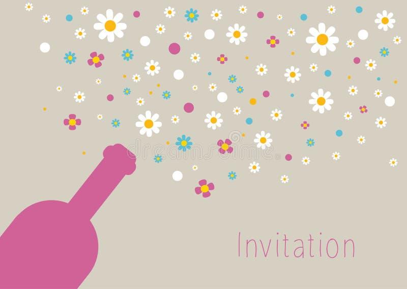 Карточка свадьбы и приглашения. иллюстрация штока