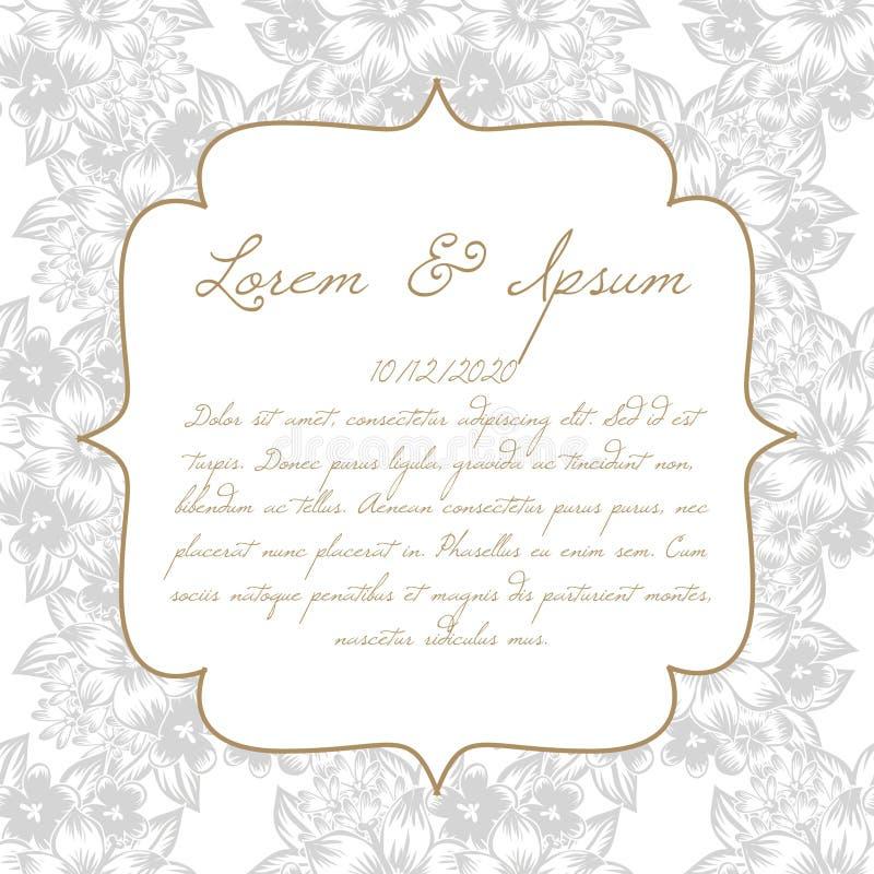 Карточка свадьбы бесплатная иллюстрация