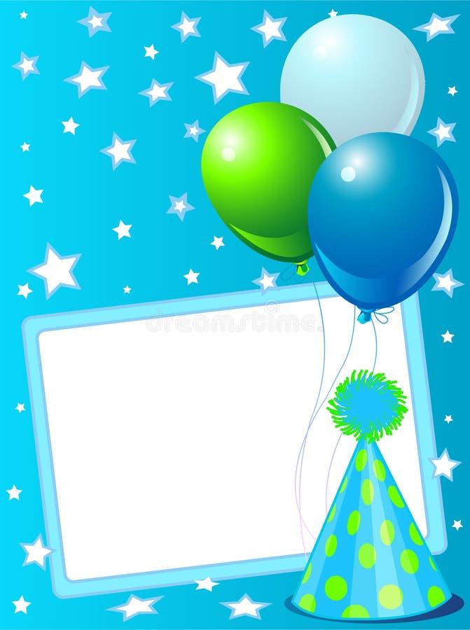 карточка сини дня рождения иллюстрация штока