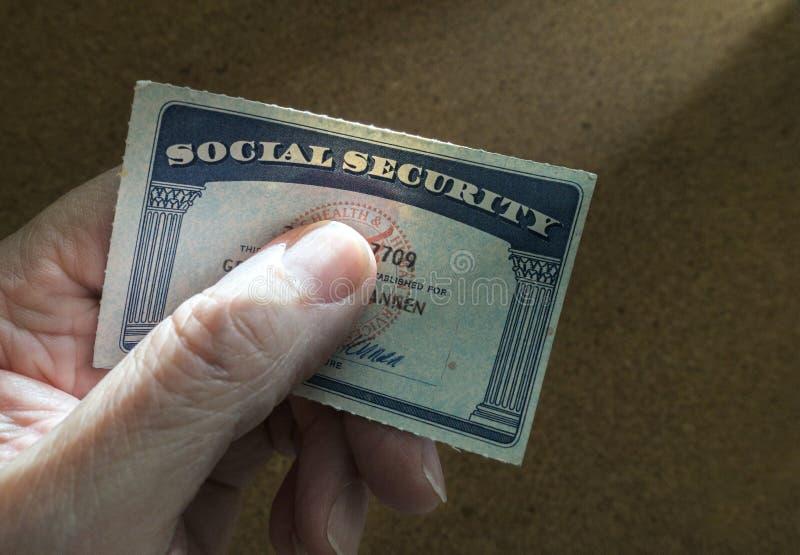 Карточка социального обеспечения стоковые фотографии rf