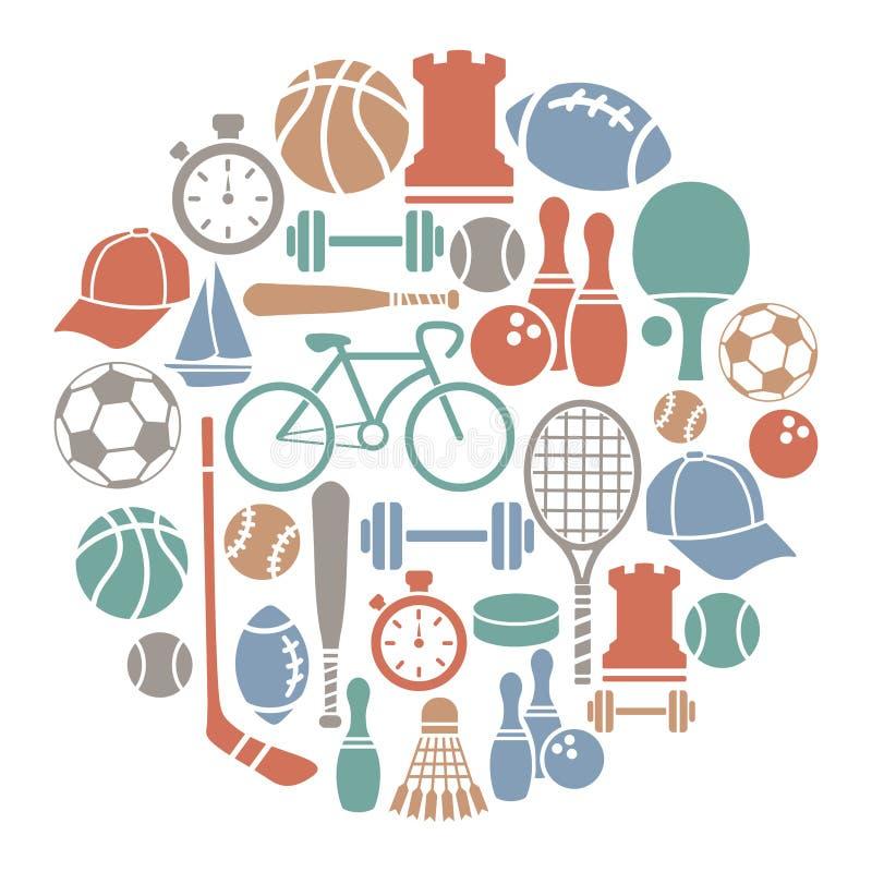 Карточка спорта иллюстрация вектора