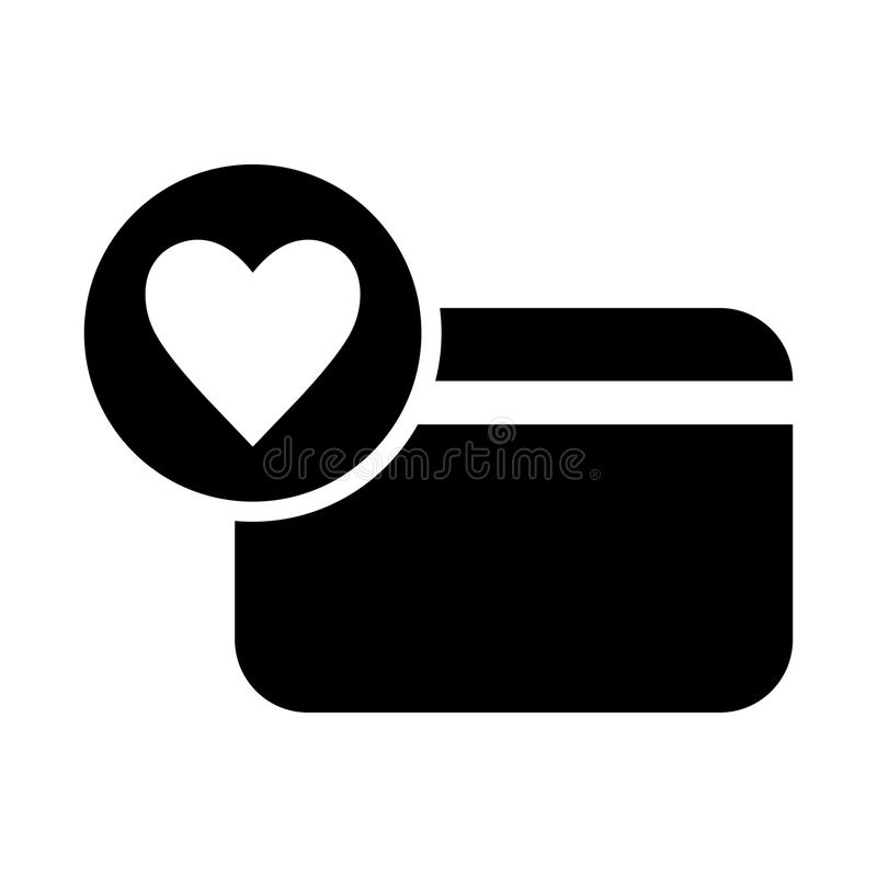 карточка с значком сердца иллюстрация штока