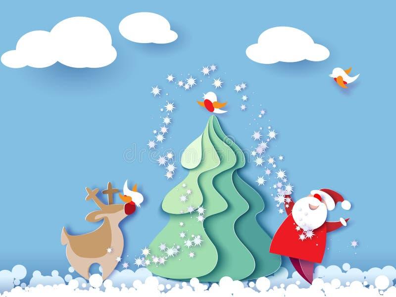 Карточка с Рождеством Христовым иллюстрация штока