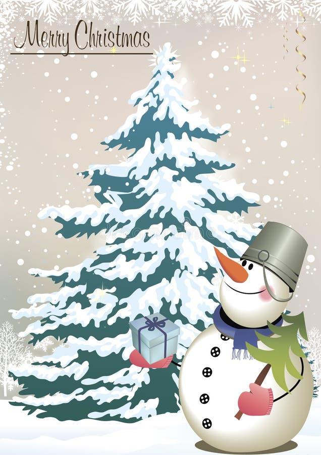 Карточка - с Рождеством Христовым! стоковые фото