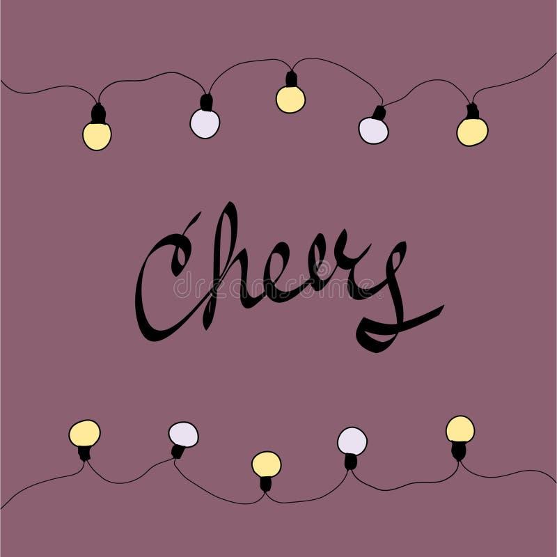 Карточка с Рождеством Христовым cheers также вектор иллюстрации притяжки corel стоковые изображения rf