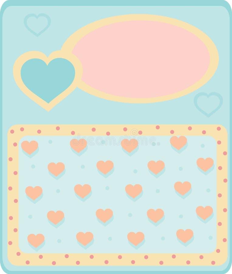 Карточка с сердцами стоковые изображения rf
