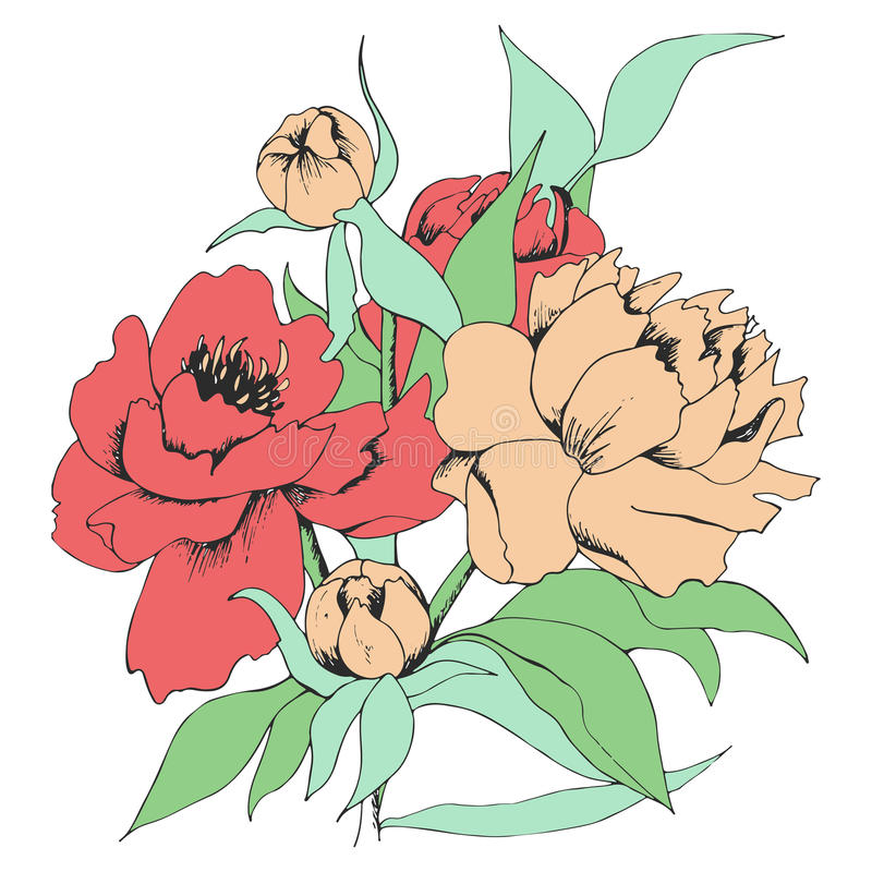 Карточка с цветками стоковое фото rf