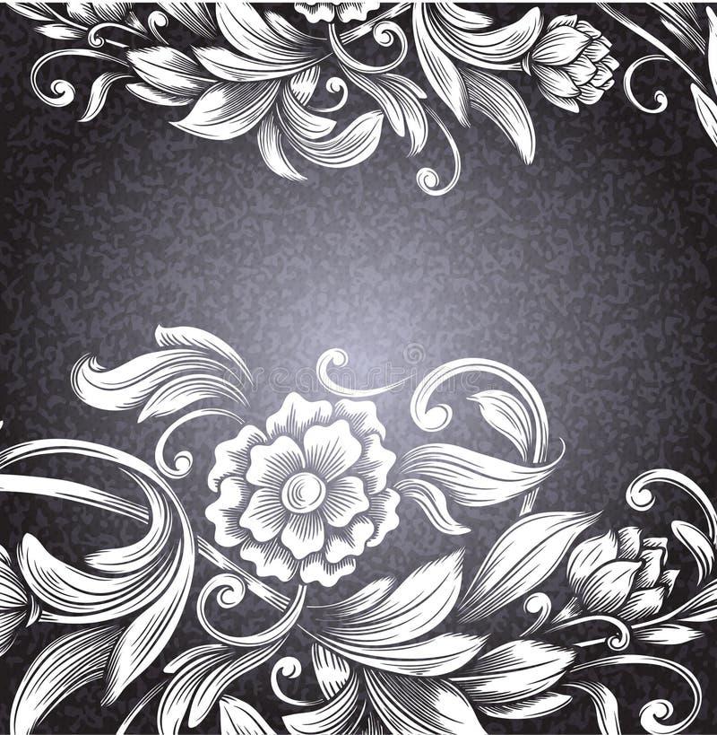 Карточка с цветочным узором бесплатная иллюстрация