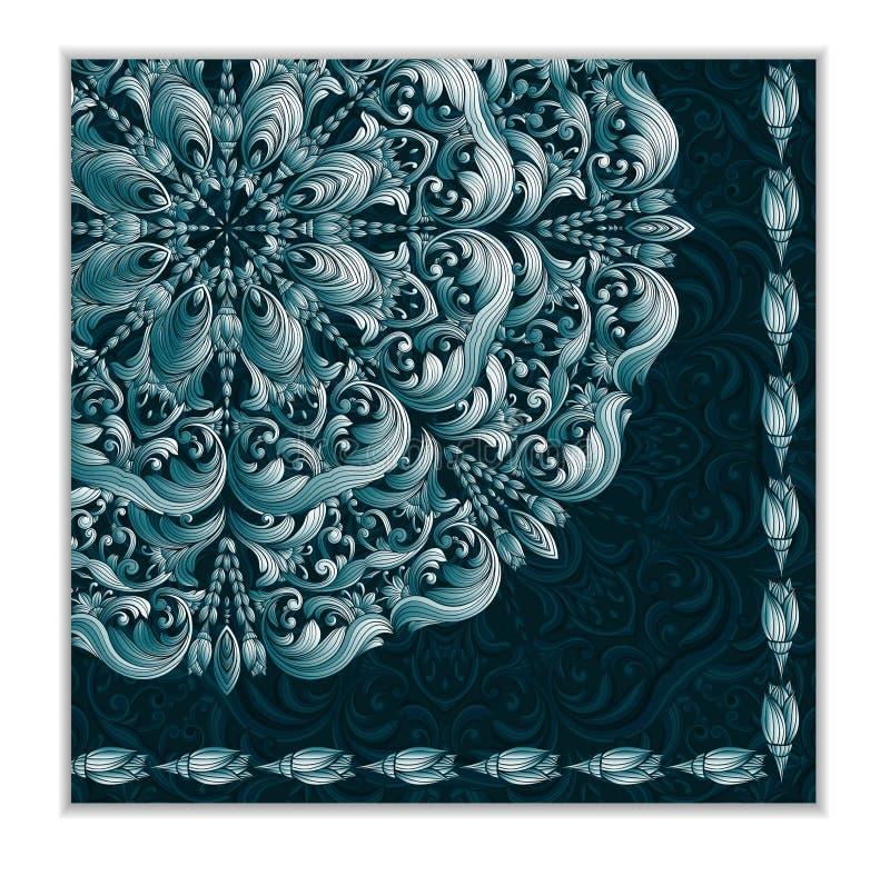 Карточка с цветочным узором иллюстрация штока