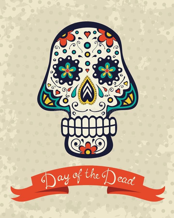Download Карточка с черепом сахара иллюстрация вектора. иллюстрации насчитывающей сердце - 40592046