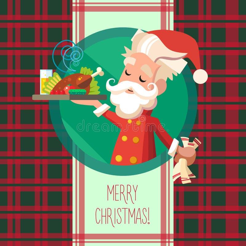 Карточка с эльфом шаржа для рождества и Новый Год party бесплатная иллюстрация