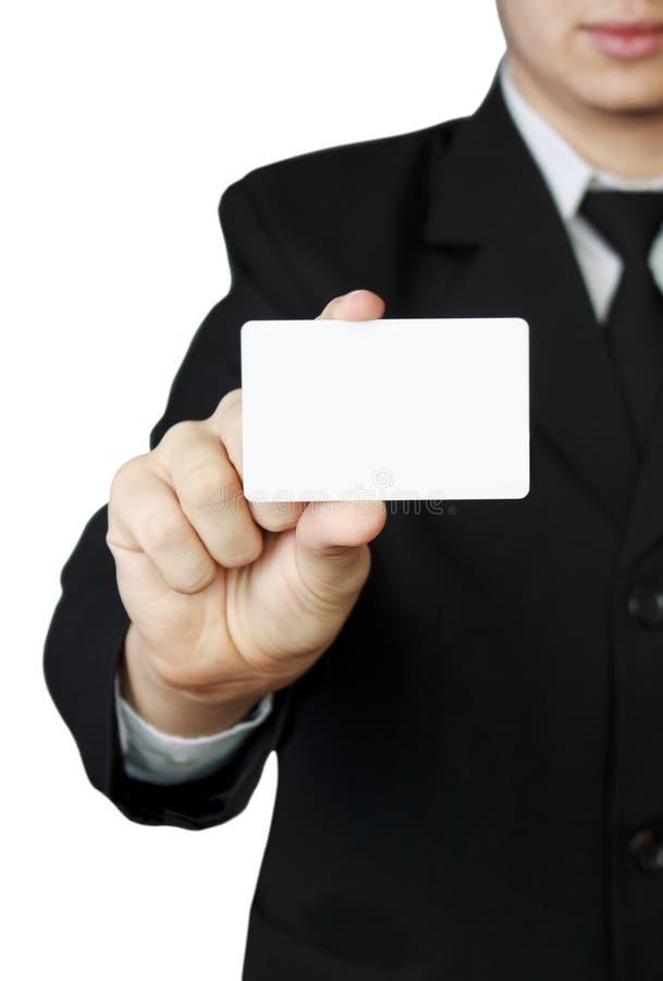 Карточка удерживания человека стоковые изображения rf