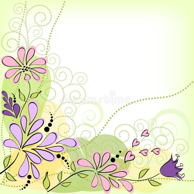 Download карточка цветет приветствие Иллюстрация вектора - иллюстрации насчитывающей край, элементы: 41661911