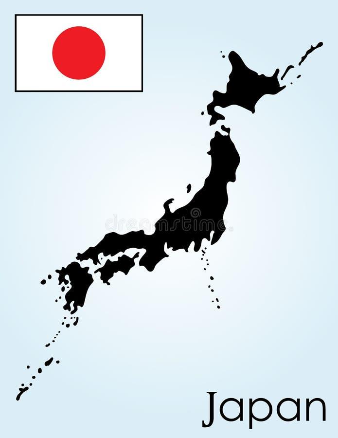 карточка япония иллюстрация штока