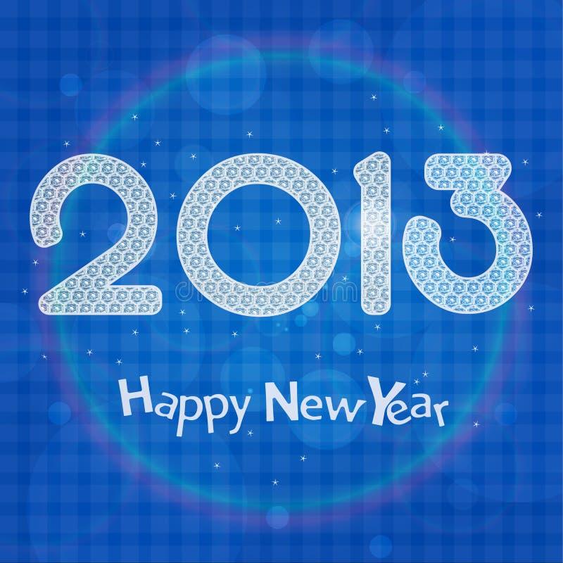 карточка 2013 торжества Стоковое Изображение