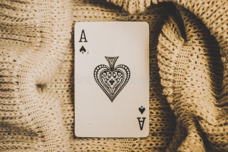 Карточка aced карточки стоковые изображения