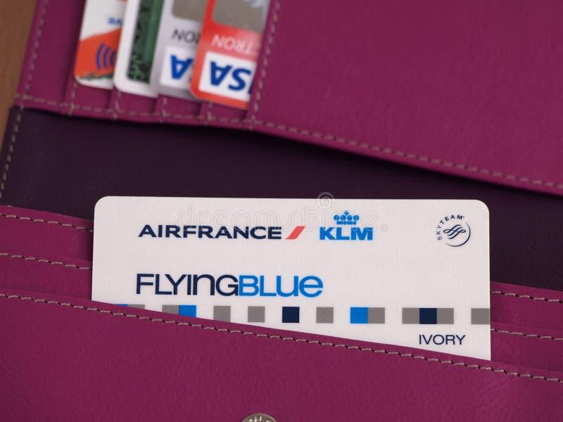 Карточка Air France стоковая фотография