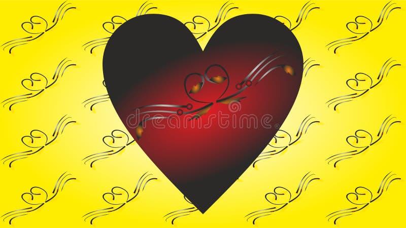 Карточка Greetting валентинки, обои, интернет-страница иллюстрация вектора