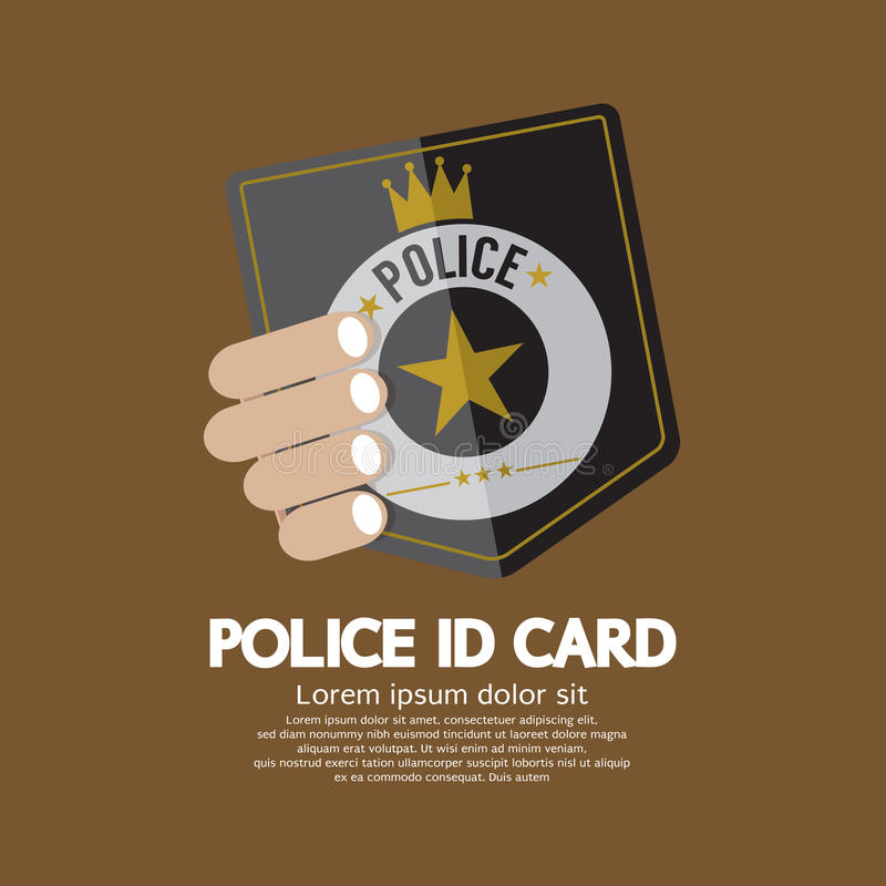 Карточка ID полиции иллюстрация вектора