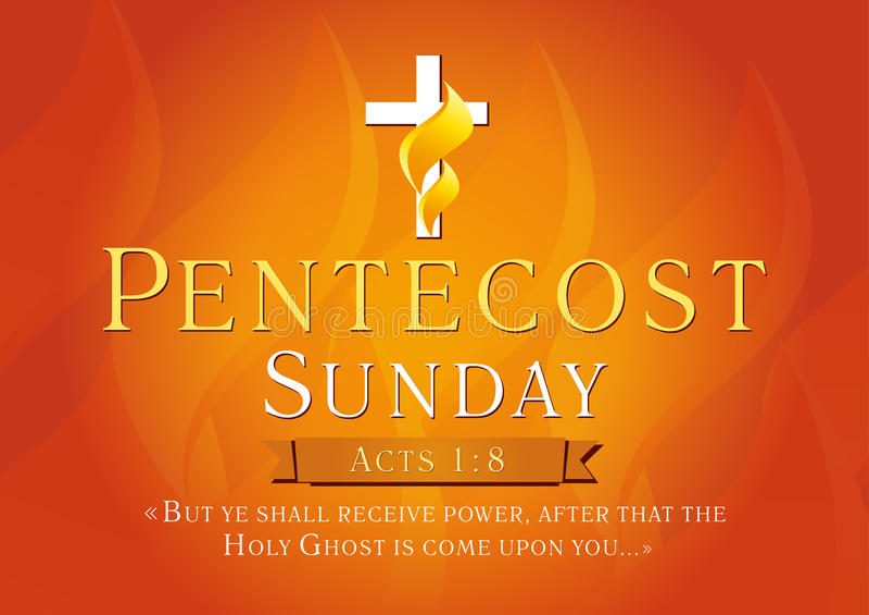 Карточка Pentecost воскресенья иллюстрация вектора