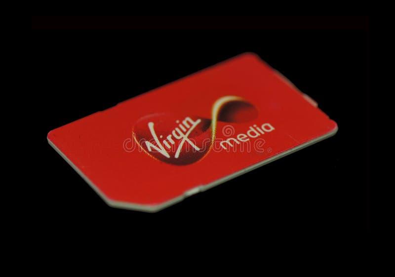 Карточка sim Virgin Media стоковое изображение rf