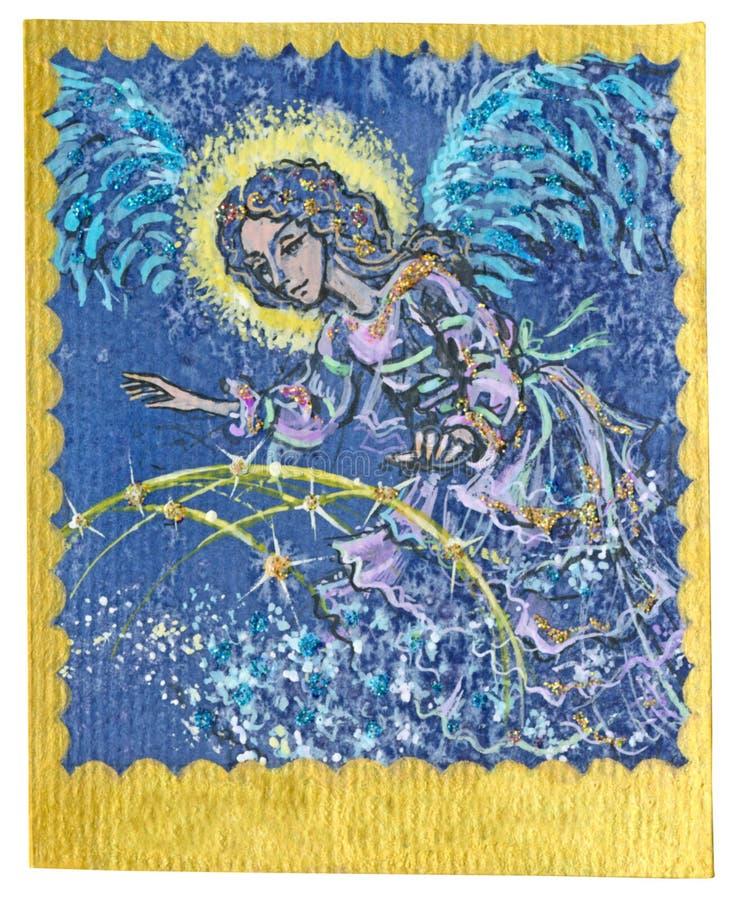 Карточка Tarot - ангел радетеля иллюстрация вектора