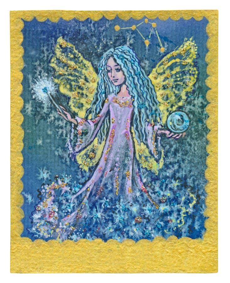 Карточка Tarot - выполненные желания иллюстрация штока