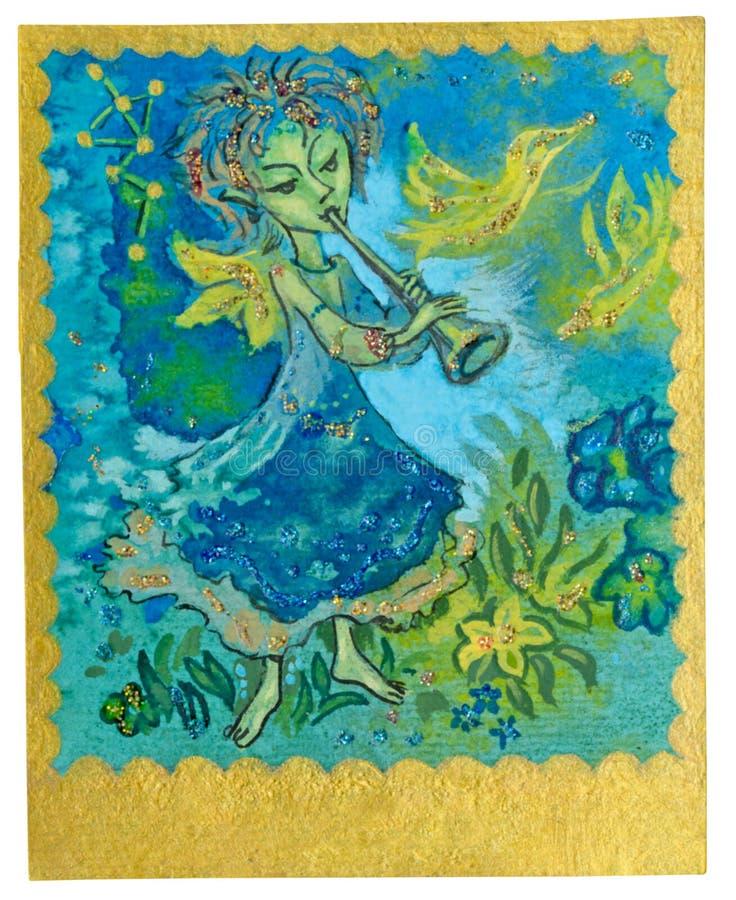 Карточка Tarot - нот бесплатная иллюстрация