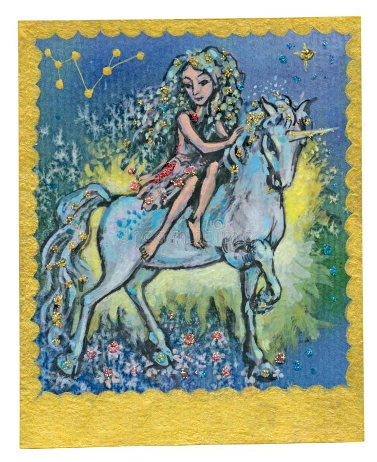 Карточка Tarot - приятельство иллюстрация штока