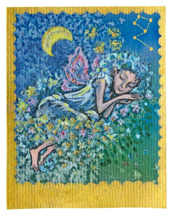 Карточка Tarot - сладостные сновидения бесплатная иллюстрация
