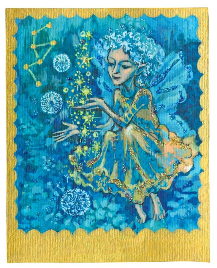 Карточка Tarot - счастье иллюстрация вектора