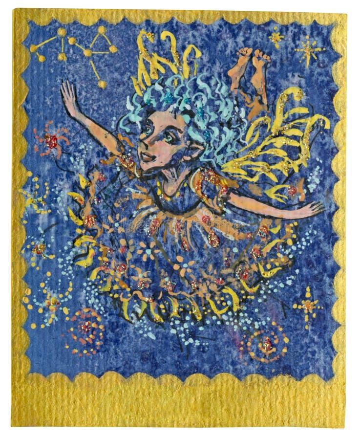 Карточка Tarot - торжества иллюстрация штока