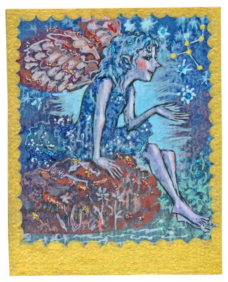 Карточка Tarot - хорошее здоровье иллюстрация вектора
