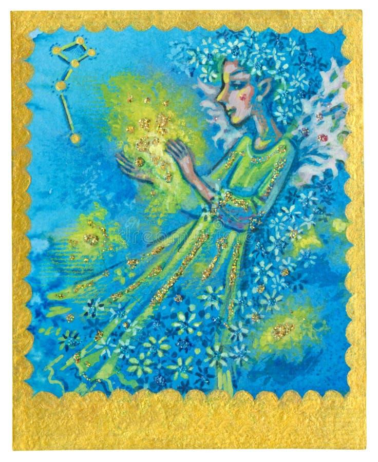 Карточка Tarot - чудеса иллюстрация штока